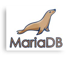 mariadb maria database programming  Metal Print
