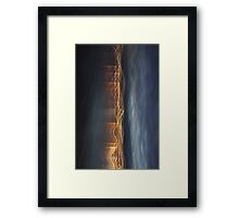Night streaks Framed Print