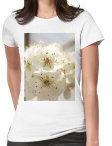 pear blossoms Womens Fitted T-Shirt