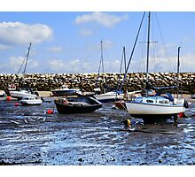 Fishing Boats by the Sea Photographic Print
