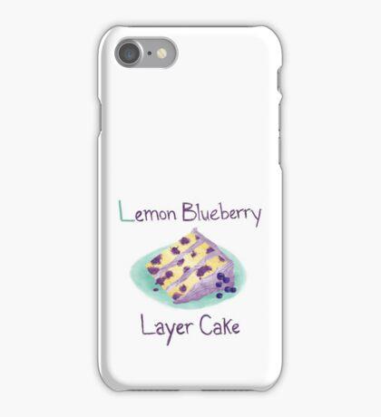 Lemon Blueberry Layer Cake iPhone Case/Skin
