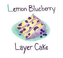 Lemon Blueberry Layer Cake Photographic Print