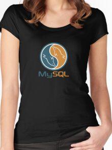 mysql database programming design Women's Fitted Scoop T-Shirt