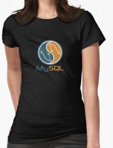 mysql database programming design Womens Fitted T-Shirt
