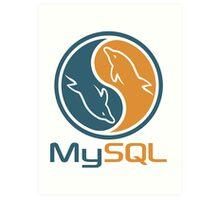 mysql database programming design Art Print