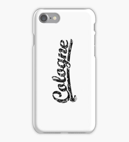 Cologne Classic Vintage (Schwarz) iPhone Case/Skin