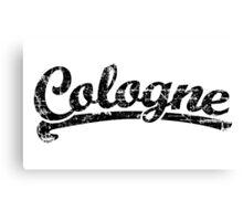 Cologne Classic Vintage (Schwarz) Canvas Print