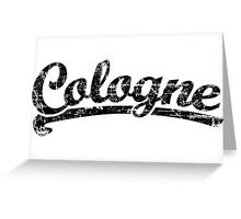 Cologne Classic Vintage (Schwarz) Greeting Card