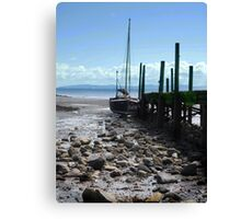 Old Boat at the end of the Pier Canvas Print