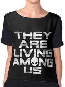 Aliens are living among us Chiffon Top