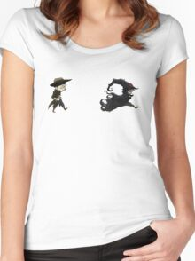 The man in black fled across the desert... Women's Fitted Scoop T-Shirt