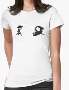 The man in black fled across the desert... Womens Fitted T-Shirt