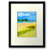 Cloudy Beach Framed Print