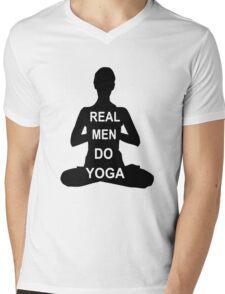 Real Men Do Yoga Mens V-Neck T-Shirt