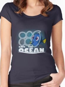Save The Ocean Women's Fitted Scoop T-Shirt