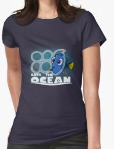 Save The Ocean Womens Fitted T-Shirt