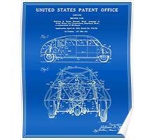 Motor Car Patent - Blueprint Poster