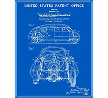 Motor Car Patent - Blueprint Photographic Print