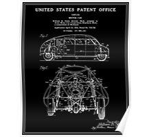 Motor Car Patent - Black Poster