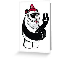 Peace Out Panda Greeting Card
