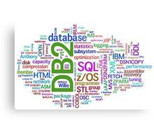 database engines languages cloud programming Metal Print