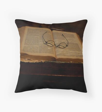 Grandfather's reading-glasses Throw Pillow