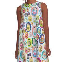 doll matryoshka A-Line Dress