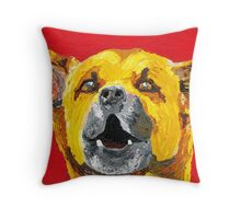 Bus Stop Barker Throw Pillow