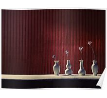 Four Vases Poster