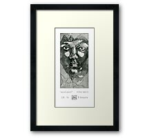 Experiment with faces #1 Framed Print