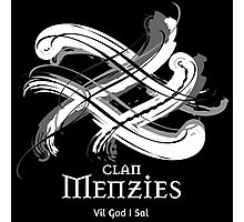 Clan Menzies - Prefer your gift on Black/White tell us at info@tangledtartan.com  Photographic Print