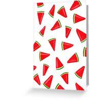 Watercolour Watermelon Greeting Card