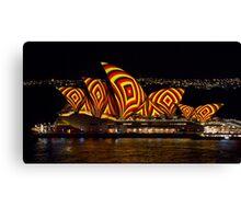 Square Sails - Sydney Opera House - Vivid Sydney Canvas Print