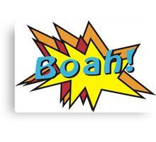 Boah comic Canvas Print