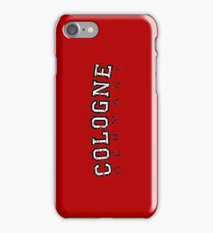 Cologne Germany Vintage (Schwarz/Weiß) iPhone Case/Skin