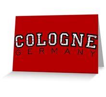 Cologne Germany Vintage (Schwarz/Weiß) Greeting Card