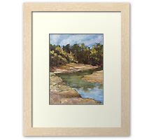Lake Cathie - plein air Framed Print