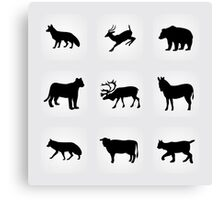 animals icons,vector illustration Canvas Print