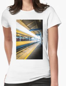 The yellow streak Womens Fitted T-Shirt