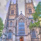 St Andrews Cathedral .. George St View by Michael Matthews