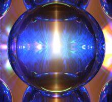 Backlit Spheres II Sticker