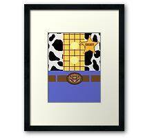 Minimalistic Woody Design Framed Print