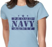 Proud NAVY Aunty Womens Fitted T-Shirt