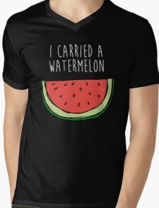 I carried a watermelon Mens V-Neck T-Shirt