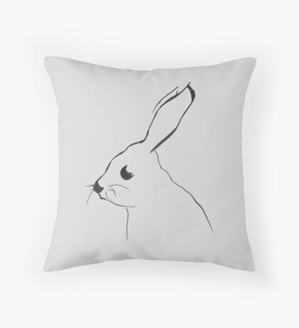 Mr Hare - drawing Throw Pillow