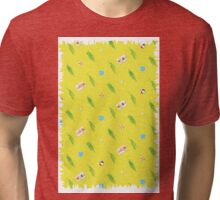 sunny beach pattern Tri-blend T-Shirt