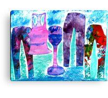 Yoga Party! Canvas Print