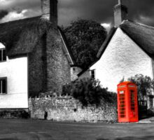 Thatched cottages of Halse (Mono) Sticker