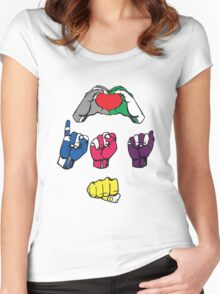 Love is a Fist v2 Women's Fitted Scoop T-Shirt