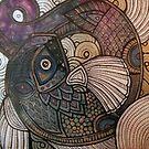 Purple Fish Swirl by Lynnette Shelley
